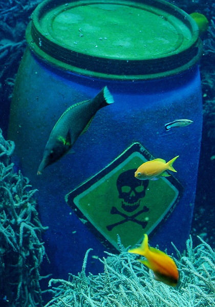 Vienna zoo combines wild with waste cervantes for Fake fish that swim