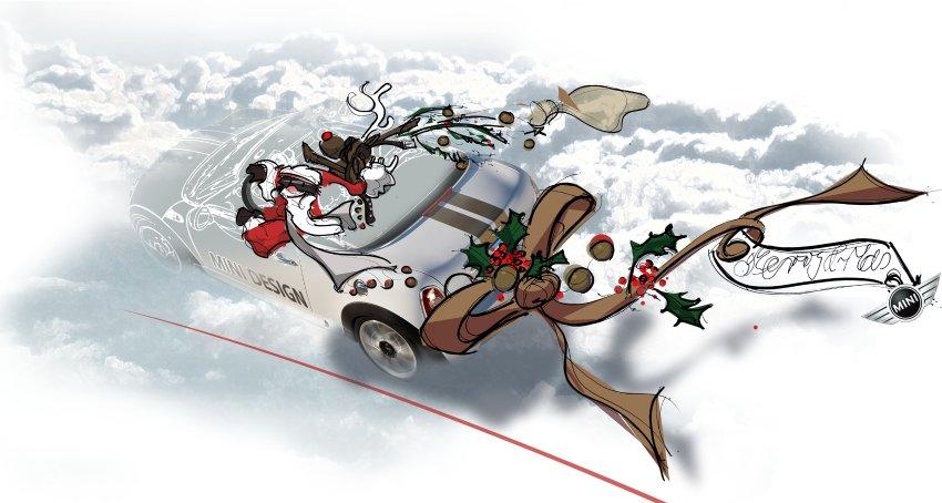 картинка дед мороз и олень за рулем машины рай может показаться
