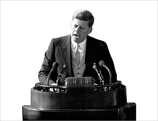 a literary analysis of an inaugural speech by john f kennedy Jfk's inaugural address rhetorical appeals- ethos throughout his speech jfk used his ethos to make the american people take his side he has automatic ethos because at this point he has become president.